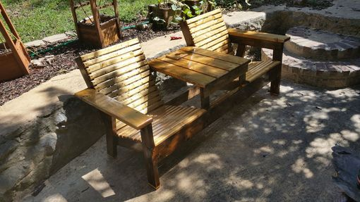 Buy A Custom Double Adirondack Chair With Center Table