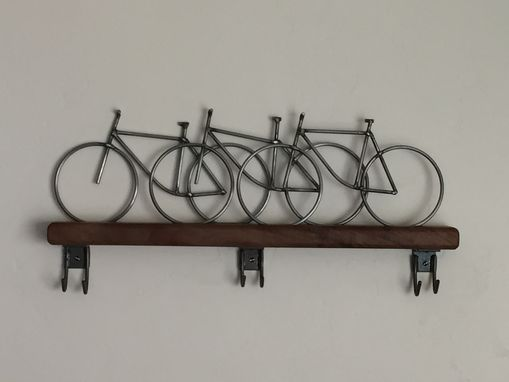 Custom Made Bicycle Wall Art, Bicycle Coat Hanger