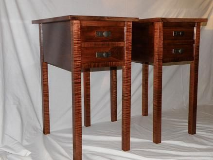 Custom Made Twin Mission End Tables