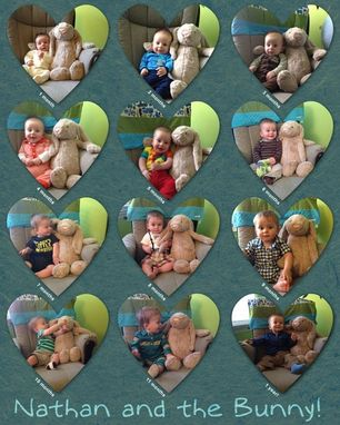 Custom Made First Birthday Collage