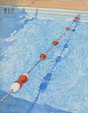 Handmade Swimming Pool Watercolor Paintings By Trailhead
