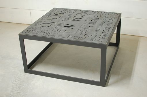 Custom Made Maximus Urban Nyc Typography Coffee Table