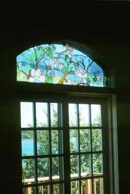 Custom Made Stained Glass Window - Apple Trees