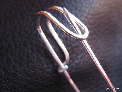 Custom Made Kilt Shawl Safety Pin Sterling Silver Hand Hammered - Flora Macdonald