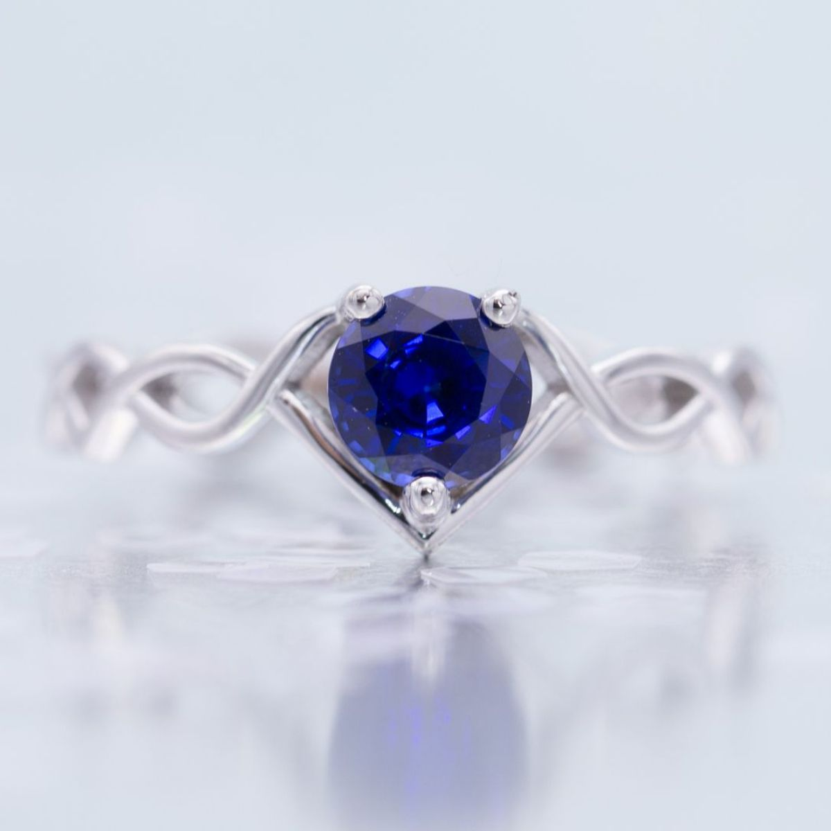 heated carats report video gem deep natural color square shape blue with sapphire gia img carat