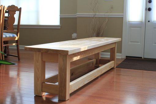 Custom Made Cypress Outdoor Or Dining Room Bench