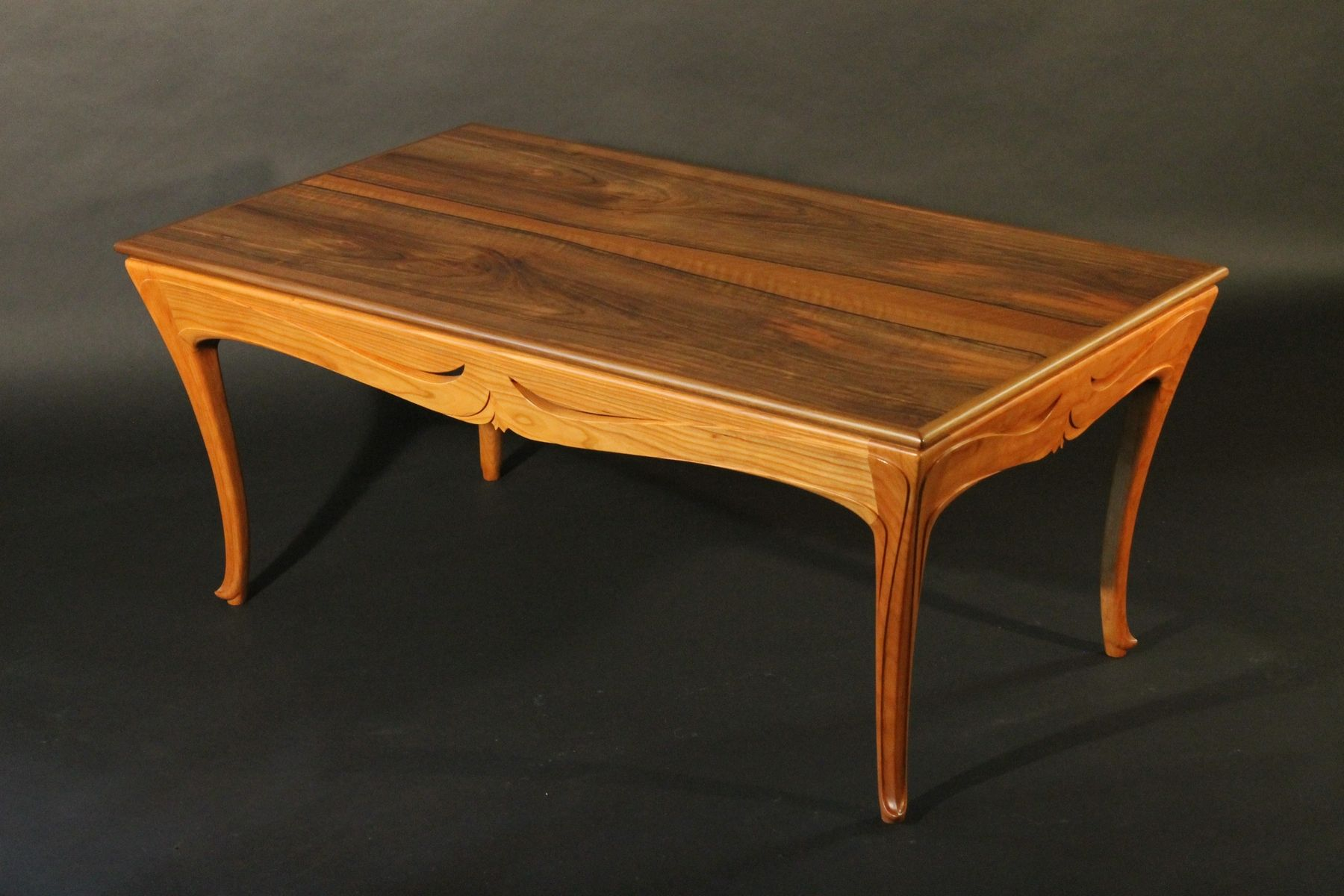 Custom Art Nouveau Coffee Table by J Rivers Furniture & Millwork