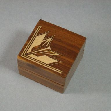 Custom Made Inlaid Art Deco Ring Box With Free Engraving And Shipping.  Rb12