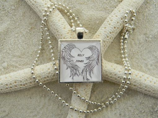 Custom Made Custom Loved One Angel Wing Pendant/Necklace