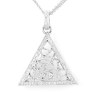 Buy a custom made pyramid diamond pendant in 14k white gold pyramid custom made pyramid diamond pendant in 14k white gold pyramid pendant triangle pendant aloadofball Choice Image