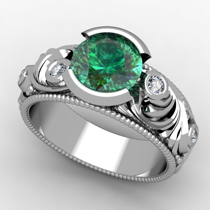 cubic princess trevora engagement carat step emerald ziamond cut sapphire zirconia ring made man
