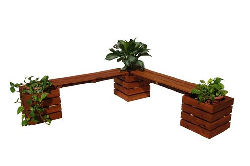 Custom Made Large Planter Bench