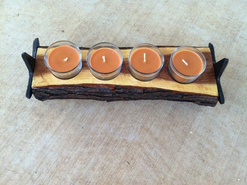 Custom Made Candle Holder, Texas Mesquite Candle Holder