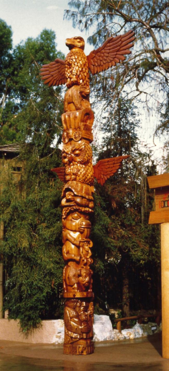 Hand Made Knott S Berry Farm Commemorative Totem Pole By