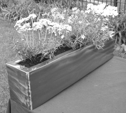 Custom Made Modern Steel Planter