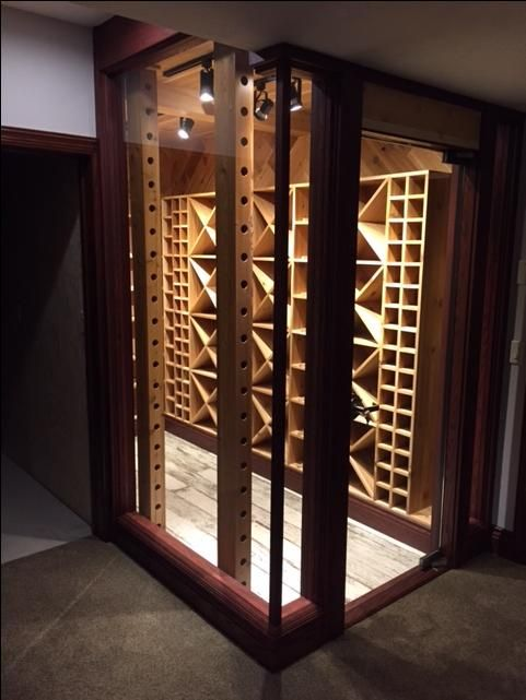 Hand Crafted Custom Cedar Wine Celler 600 Plus Bottle Storage