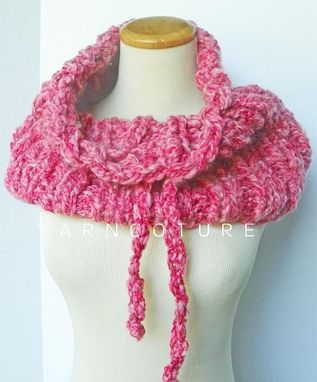 Custom Made The Buknuk Drawstring Cowl - Fall Winter Fashion - Urban Gear - Raspberry Pink