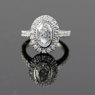 Custom Made Sorraya Oval Diamond Platinum Engagement Ring