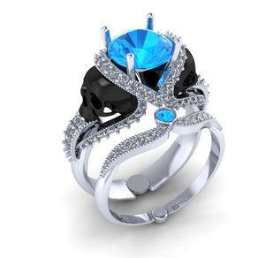 skull engagement ring - Skull Wedding Rings For Men