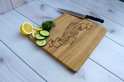 Custom Made Personalized Cutting Board, Engraved Cutting Board, Custom Wedding Gift – Cb-Wo- Thomlinson