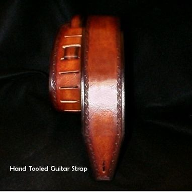 Custom Made Leather Guitar Strap