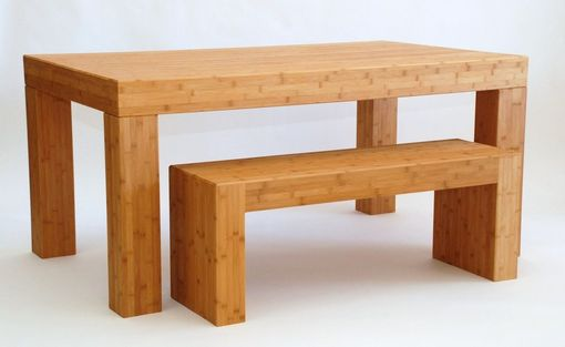 Custom Made Taneto Dining Set - Table And Two Benches