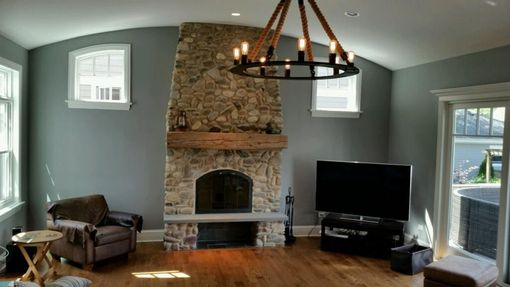 Custom Made Barm Beam Fireplace Mantle