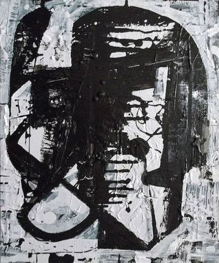 Custom Made Abstract Painting Black And White Modern Art By Elston