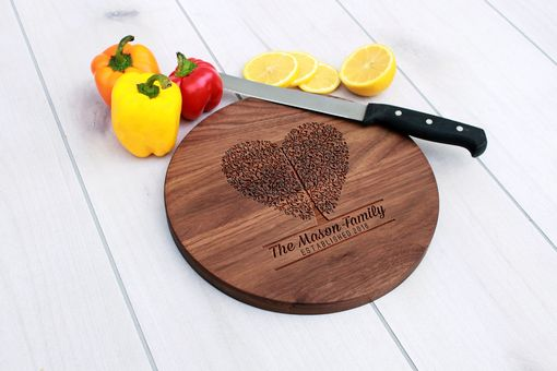 Custom Made Personalized Cutting Board, Engraved Cutting Board, Custom Wedding Gift – Cbr-Wal-Masonhearttree