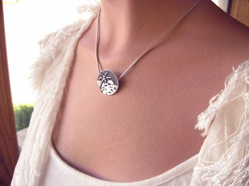 Custom Made Moonlit Beach Fine Silver Necklace