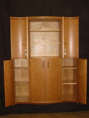 Custom Made Serpentine Linen Press / Armoire
