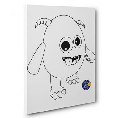 Custom Made Little Baby Bum Monster Kids Room Coloring Canvas Decor