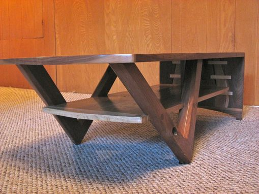 Custom Made Walnut And Salvaged Oak Coffee Table
