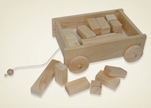 Custom Made Wagon & Blocks