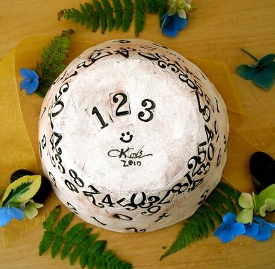 Custom Made Numbers Pottery Bowl