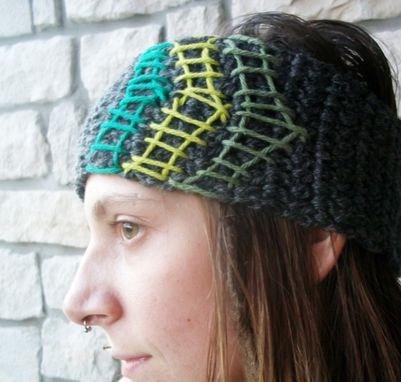 Custom Made Unique Crochet Wool Headband / Ear Warmers