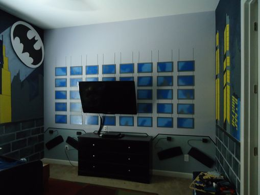 Custom Made Gotham City And Batman Control Room Mural