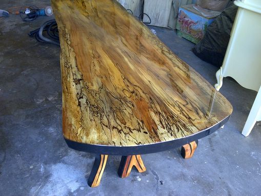 Custom Made Coffee Table With Visible Wood Grain