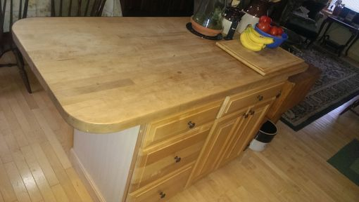 Custom Made Kitchen Island In Maple