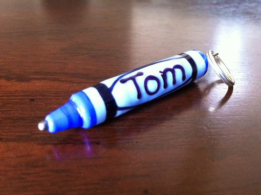 Custom Made Custom Personalized Name Glass Crayon Bead Keychain Or Pendant