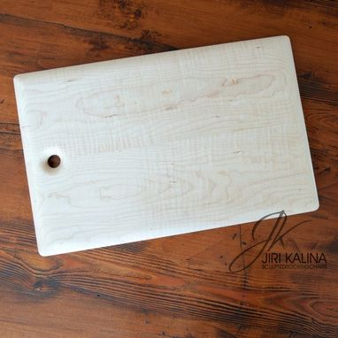 Custom Made Rectangle Tiger Maple Wood Cutting Boards