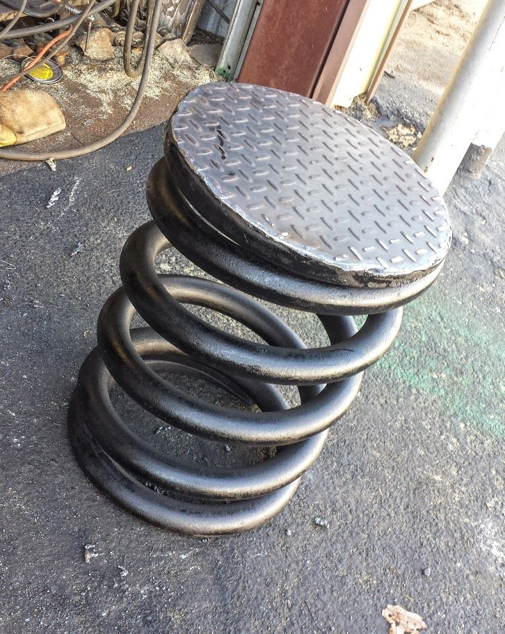 Buy A Custom Made Metal Stools Industrial Chic Outdoor
