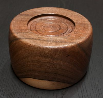 Custom Made Hand Turned Walnut Wood Bowl