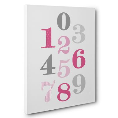 Custom Made Numbers Nursery Canvas Wall Art