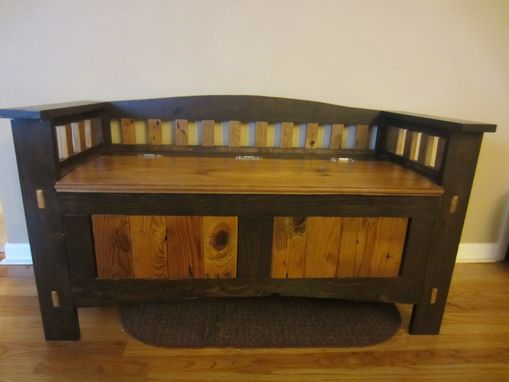 Handmade Entry Storage Bench By Kinderling Wood