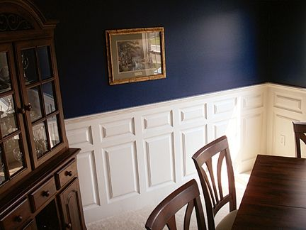 Custom Made Dining Room Custom Wainscoting – Madison Style