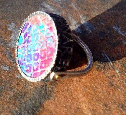 Custom Made Sterling Silver Polymer Clay Rotating Ring
