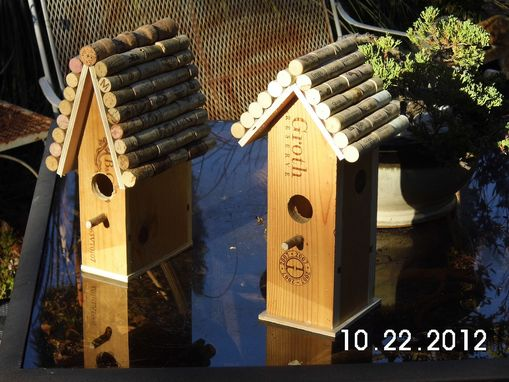 Custom Made Wine Box Birdhouse