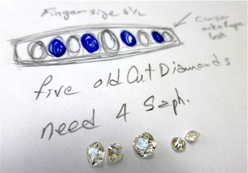 Custom Made Inherited Old Cut Diamonds