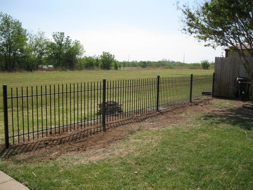 Custom Made Hand Forged Picket Fence